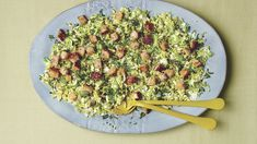 Warm Brussels Sprout Caesar Salad with Multigrain Croutons - FineCooking