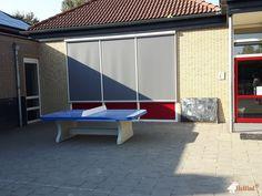Pingpongtafel Afgerond Blauw bij Willibrordschool in Denekamp