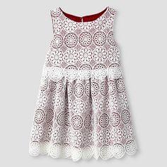 Toddler Girls' A Line Dress - Almond Cream - Genuine Kids™ : Target