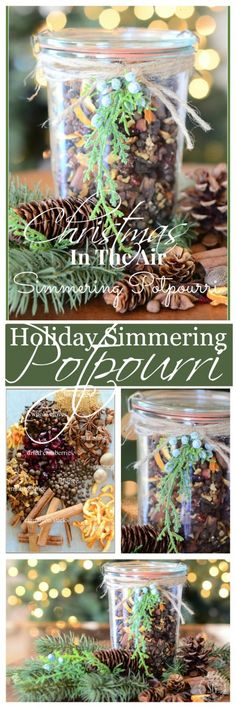 HOLIDAY SIMMERING POTPOURRI is a natural way to create a holiday fragrance in your home without chemicals or sprays or candles. Homemade Potpourri, Simmering Potpourri, Stove Top Potpourri, Potpourri Recipes, Homemade Gifts, Christmas Is Coming, All Things Christmas, Winter Christmas, Merry Christmas