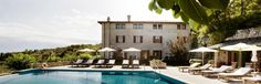 Dreamy views from this pool at Villa Arcadia, out across Lake Garda to the mountains