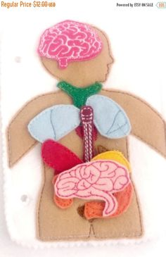 EASTER BASKET SALE Anatomy Busy book page 10 Felt Organs plus mat Science Medical Play Set  educational game busy bags
