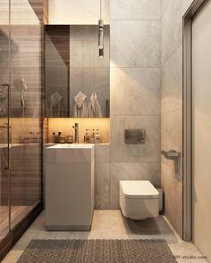 Bathroom Niche: Learn How To Choose And See Ideas With Photos - Home Fashion Trend Bathroom Niche, Bathroom Toilets, Bathroom Layout, Small Bathroom, Washroom, Bathroom Storage, Best Bathroom Designs, Bathroom Design Luxury, Modern Bathroom Design
