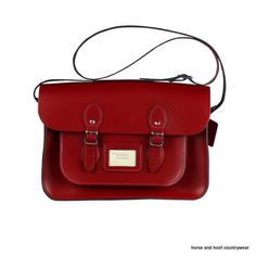 Traditional Hand Crafted British Vintage Leather Satchel - Pillarbox Red Our 14-inch satchel perfectly fits all styles of 13-inch MacBook Standard