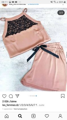 Jolie Lingerie, Sexy Lingerie, Diy Fashion, Fashion Dresses, Pyjamas, Pjs, Night Suit, Clothing Haul, Suit Pattern