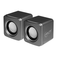 ARCTIC S111 Silver - USB Powered Stereo Computer Speaker - Multimedia Speaker with Enhanced Drivers