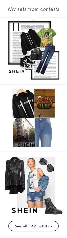 """My sets from contests"" by kacenka-1 on Polyvore featuring romwe, rosegal, yoins, shein, AG Adriano Goldschmied, Madewell, Steve Madden, friends, 90s and show"