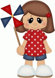 Silhouette Design Store - View Design #61905: 4th of july girl w pinwheel pnc