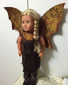 "Woodlawn Fairy; Tunic, Wings, Boots, Belt, Headband and Pants for American Girl or other 18"" Doll by FluttersofaDragonfly on Etsy"