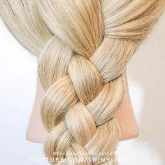 Easy Hairstyles For Medium Hair, Cool Braid Hairstyles, Braided Hairstyles Tutorials, Hairstyles With Bangs, Medium Hair Styles, Girl Hairstyles, Long Hair Styles, Braid Tutorials, Step By Step Hairstyles