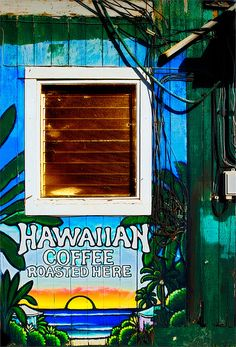 Hawaiian Coffe Paia Maui Hawaii Window