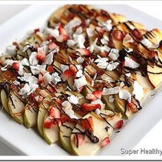 Fruit Nachos. A Sweet and Healthy Treat