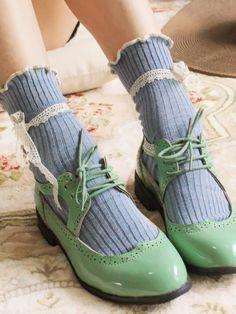 lace tie ankle socks $6.99 #asianicandy #asianfashion #japanesefashion #lacesocks