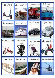 * Memorie: Vervoermiddelen!