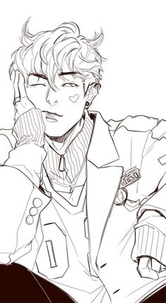 Our omega leadernim on webtoon Anime Drawings Sketches, Anime Sketch, Cute Drawings, Drawings For Boys, Sketches Of Boys, Anime Drawing Styles, Guy Drawing, Character Drawing, Drawing People