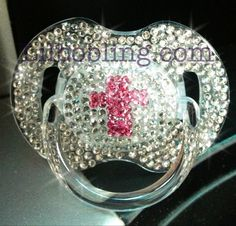 Avent Bling Pacifier Christening by LilBoBling on Etsy