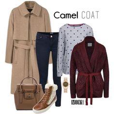 camel kabat, vinovy sveter