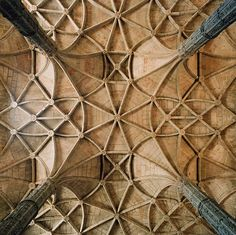Geometric shapes on cathedral ceilings