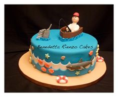 Father's Day Fishing Cookies | Father's Day Fishing Trip - 516F - Cake Decorating Community - Cakes ...