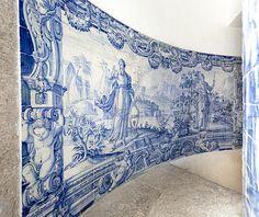 Rio de Janeiro   Igreja de / Church of Nossa Senhora da Glória do Outeiro   coro alto / choir   Judas e Isaac #Azulejo #AzulEBranco #BlueAndWhite #Barroco #Baroque #Brasil #Brazil
