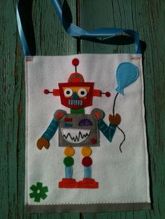 Boutique Robot Birthday goodie bags goody by cottonsandcandies