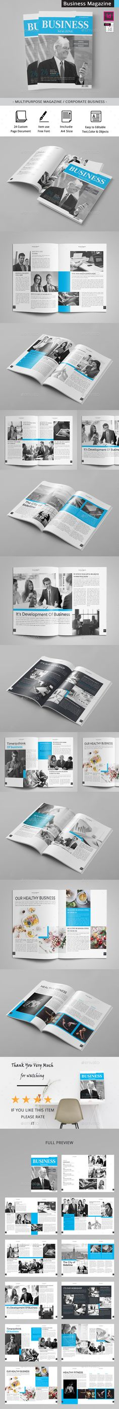 The Business Magazine by obayes Brochure Description:The Business magazine / Clean & Professional Magazine Template that is super simple to edit and customize wi