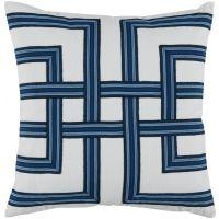 #12 Harbor Lattice Tape on White Flax Pillow