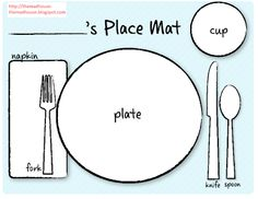 Printable placemat for learning how to set the table from emily for all those that asked i have done a printable placemat which you can laminate pronofoot35fo Images