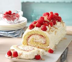 Raspberry-Almond Jelly Roll Recipe -Gloria Warczak of CederburgWisconsin. With a whipped cream almond and raspberry filling the lovely swirled slices taste as good as they look.  FULL RECIPE HERE  Sub Roll Recipe  sub roll recipe sandwich roll up recipe sandwich roll recipe italian hoagie roll recipe bread machine gluten free sub roll recipe homemade sub roll recipe hoagie roll recipe king arthur hoagie roll recipe food network sub roll recipe bread machine submarine bun dough recipe…