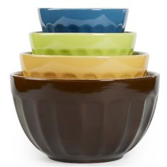 4 Piece Cafe Multi Mixing Bowl Set *** Find out more about the great product at the image link. (This is an affiliate link) #BakingToolsandAccessories