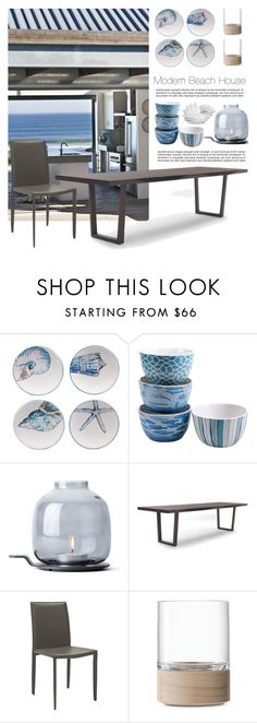 """MODERN BEACH HOUSE"" by tiziana-melera ❤ liked on Polyvore featuring interior, interiors, interior design, home, home decor, interior decorating, Certified International, Menu, Mitchell Gold + Bob Williams and Safavieh"