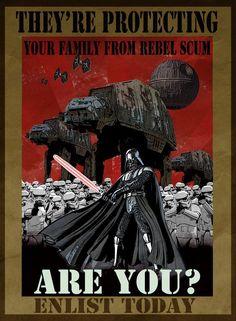 The Galactic Empire Wants You! Star Wars Fan Art, Star Trek, Propaganda Art, Star Wars Images, Darth Vader, Star War 3, Stuff And Thangs, Star Wars Poster, Love Stars