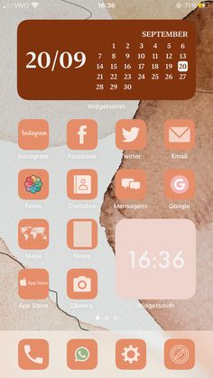 App Icon, Iphone, Homescreen, Wallpaper S, Ios, Pastel, Organization, Instagram, Messages