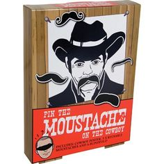 Pin the Moustache on Cowboy [p6809] - $11.00 : Mortimer Snodgrass, the gift store in Montreal and Online