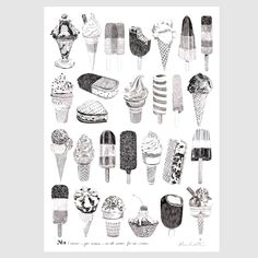 Ros Shiers 'We All Scream For Ice Cream' Print  http://www.rosshiers.bigcartel.com