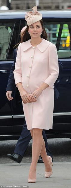 Marking Commonwealth Day - Alexander McQueen coat, Jane Taylor Millinery, Prada shoes and clutch