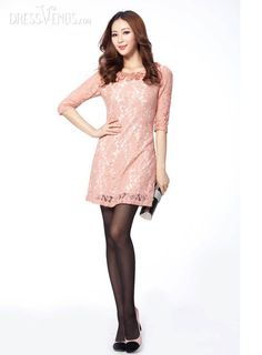US$19.99 2013 Korean Style Slim Lace Dress. #Dresses #Dress #Korean #Slim