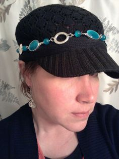 Mialisia Blue Taffy worn on my hat. Get one at http://stephsstyle.mialisia.com/