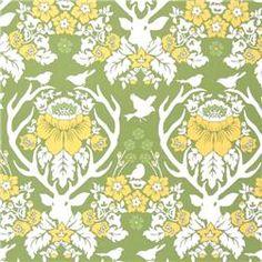 Deer Damask cotton fabric $8.98 a yard