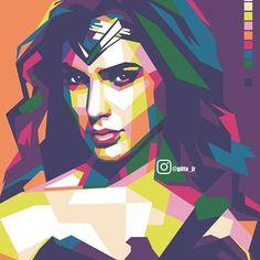 Aku bukan Wonder Women mu yang bisa terus menahan rasa sakit Cie nyanyi :p  #wpap #wpapart #artindo #wpapindo #wpapstyle #wedha #popart #portrait #wonderwoman #dc #superhero #dccinematicuniverse #vector #fullcolour #wedhaism #uncurve #batmanvsuperman #graphicdesign #digitalart #sketch #drawing #instaartist #coreldraw #amazing #andywarhol #illustration #fanart Pop Art Portraits, Classic Portraits, Watercolor Painting Techniques, Diy Painting, Sketch Drawing, Sketches, Perspective Art, Guitar Art, Arte Pop