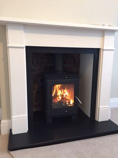 Agean limestone surround with Flavel Arundel stove