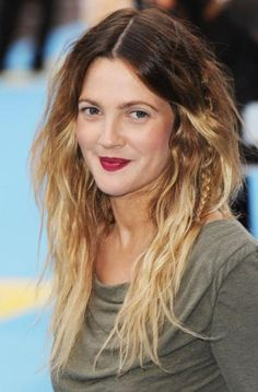 Drew Barrymore Ombré hair colour http://beautyeditor.ca/2010/09/21/why-yes-it-is-possible-to-do-your-own-ombre-hair-colour-at-home/
