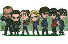 Lincoln & Octavia & Raven & Clarke & Bellamy & Monty & Jasper