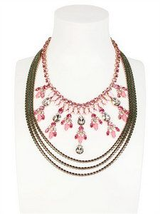 Halaby - Pink Patiala Necklace | FashionJug.com