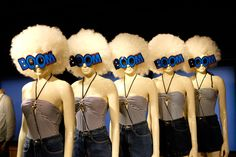 "HANS BOODT Mannequins,""The party is rockin',the whole crew is poppin',them girls be slammin' and the party goes BOOM BOOM BOOM"", pinned by Ton van der Veer"