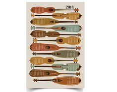 2014 Instrument Wall Calendar Poster by papersparrow Great Birthday Gifts, Dear Santa, Best Gifts, Stars, Paper, Wall, Instruments, Handmade, Decor