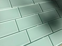 Our seafoam 3x6 glass subway tile is crafted from the highest quality glass using 100% recycled materials. This light gray tile with blue undertones is unique t