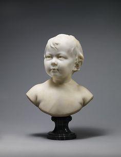Sabine Houdon (1787–1836).  Jean-Antoine Houdon  (French, Versailles 1741–1828 Paris).  Date: 1788 Culture: French, Paris.Medium: White marble on gray marble socle.