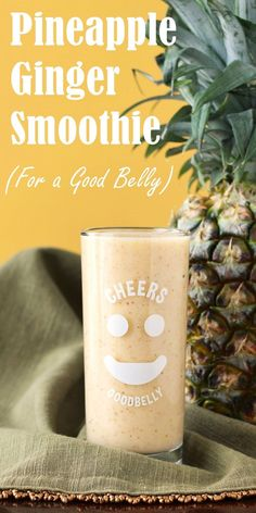 Pineapple Ginger Smoothie Recipe for a Good Belly! (dairy-free, vegan & filled with delicious ingredients for healthy digestion!)