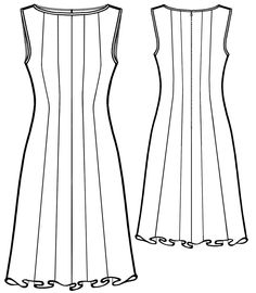 Short Dress  - Sewing Pattern #5581 Made-to-measure sewing pattern from Lekala with free online download.